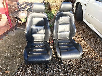 Audi TT mk1 8n Black Leather Heated Front Seats Pair