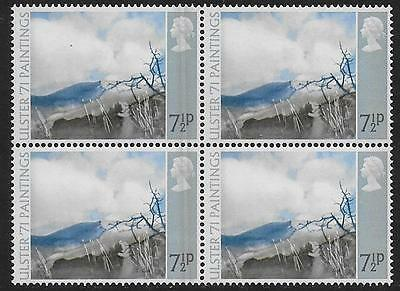 1971 Ulster Paintings7½p. GREY BLADE FLAW. MNH