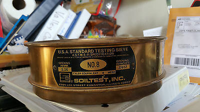 NO. 8     2.36 mm  .0937 inches   SoilTest, INC Standard Testing Sieve