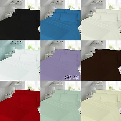 New Flannelette 100% Soft Brushed Cotton Fitted/Flat Sheet and Pillow ALL SIZES