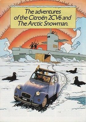 Citroen 2Cv6 & Charleston Tintin Adventures Of The Arctic Snowman Brochure K2040