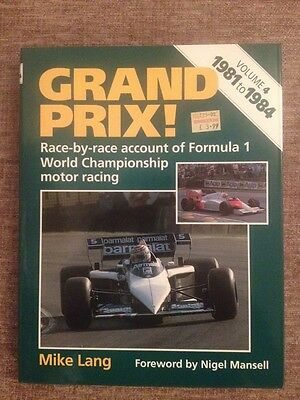 Grand Prix Volume 4 1981 To 1984 Book By Mike Lang In Mint Condition
