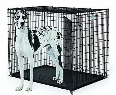 Great Dane Dog Crate Size XXXL Pan Tray Double Door Dog Crate Pet Cage Folding
