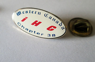 International Harvester Company Ihc Western Canada Chapter Pin Hat Badge Pinback