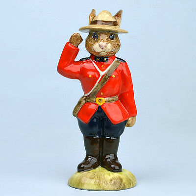 Rare Royal Doulton Limited Edition Mountie Bunnykins Db135