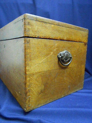 Vintage Wood Machinist? Woodworking? Tool Box Dove Tail Ornate Handles
