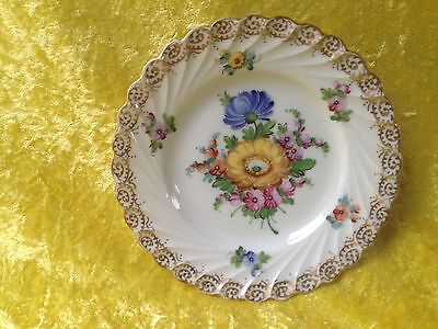 Dresden Hand Decorated Sprays Pattern Tea Plate
