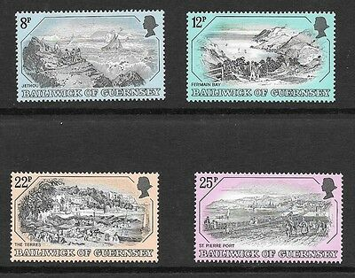 Guernsey 1982 Old Guernsey Prints (Second Series) Stamp Set Mh