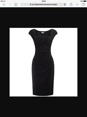 LK Bennett Black Tina dress 12