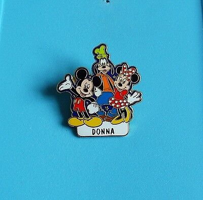 Walt Disney mickey mouse/goofy/Minnie mouse stud pin badge charity (DONNA)