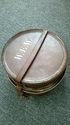 Antique Leather Collar Box with Collars and Extras