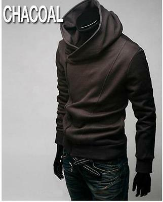 Men's Coffee M Stylish Creed Slim Hoodie Coat Cosplay For Assassins Jacket