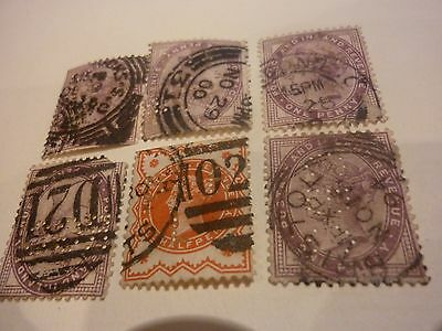 6  Perferated Victorian stamps