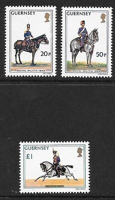 Guernsey: Second Definitive Issue 20P-£1 Set  Mnh