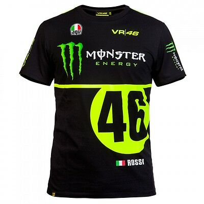 OFFICIAL Valentino Rossi Monster #46 Monza Rally Moto GP T-shirt - NEW