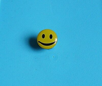 smiley face stud pin badge charity