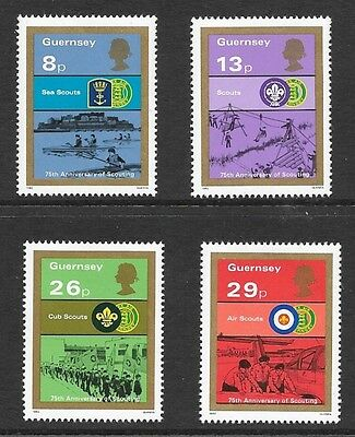 GUERNSEY 1982 75th ANNIVERSARY OF BOY SCOUT MOVEMENT STAMP SET MH