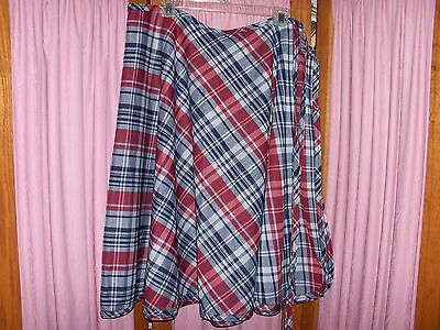 One Size Vintage Plaid Wrap Skirt by Bogart of Texas