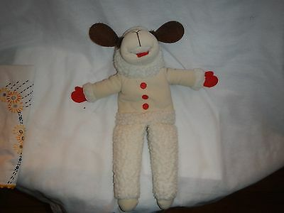 1992 Lamb Chop Plush White 17 in. Stuffed Toy Puppet by Shari Lewis