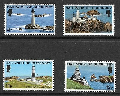 Guernsey 1976 Lighthouses Stamp Set Mh