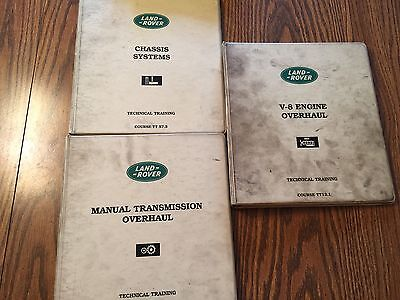 1990s Land Rover Range Rover Engine Trans  Overhaul Service Manual
