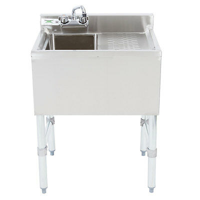 NEW 1 Bowl Underbar Stainless Steel Hand Wash Sink RIGHT Drainboard Commercial