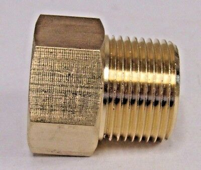 "Brass Adapter 3/4"" Npt Male X 3/4"" Bspp Female New"
