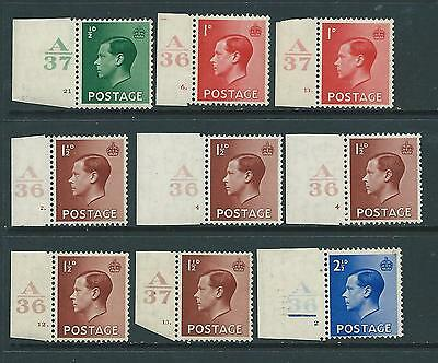 CONTROLS Collection of MINT EdVIII stamps.