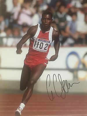 Carl Lewis Original Hand Signed Photo 12x8 With COA