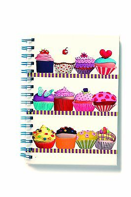 Robert Frederick Cakes - A5 Wire Bound Hardback Notebook - 80 Double Sided Pages