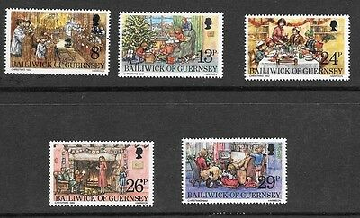 Guernsey 1982 Christmas Stamp Set Mh