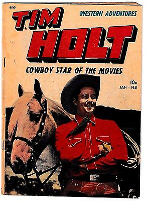 TIM HOLT #4 (VG-) Cowboy Star of the Movies! Magazine Enterprises 1949 Western