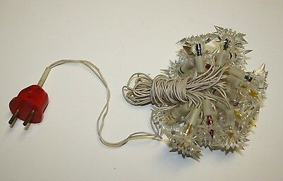Soviet Vintage Antique Stars New Year Electric Light Garland Christmas used 220V