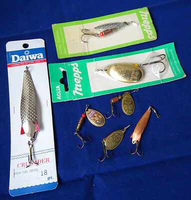 A Good Selection Of Vintage Lures Mepps, Abu Toby, Daiwa And Multispin