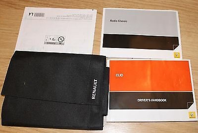 Renault Clio Tce Dci Handbook Owners Manual Wallet Service Book 2012-2016 T1858