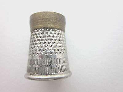 RARE  UNIQUE  Antique Steel and Brass TAILOR'S THIMBLE
