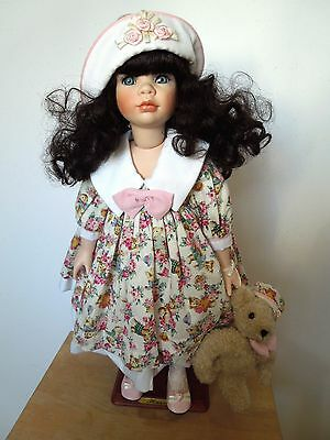 """ALBERON PORCELAIN DOLL HAZEL 20"""" LIMITED EDITION No 254 of 2500, CERTIFICATE NEW"""