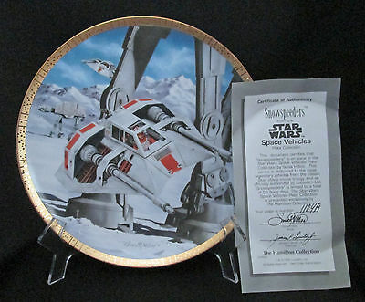 Star Wars The Snow Speeders Space Vehicles Plate Hamilton Collection 1995