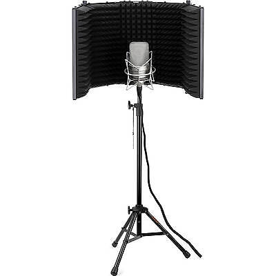 Microphone Tripod Stand Reflection Filter Mic Holder Studio Recording Support