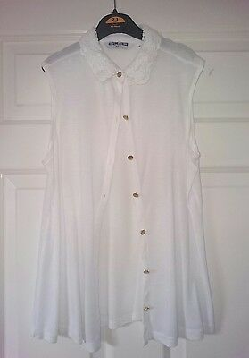 Lovely Girls White Sleeeveless Blouse From Generation @New Look Age 12-13 Years