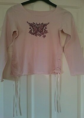 Lovely Girls Pink With Butterfly Motif From Marks And Spencer Age 8 Years