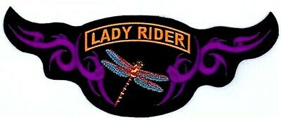 Lady Rider Dragonfly Women Nature Motorcycle Vest Embroidered Patch Al-37