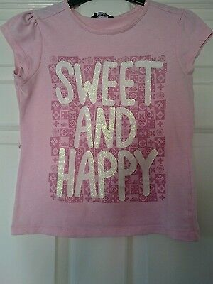 Lovely Girls Pink Short Sleeved T-Shirt From George Age 9-10 Years