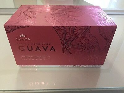NEW Ecoya Guava & Lychee Sorbet Candle and Diffuser Gift Set - Limited Edition