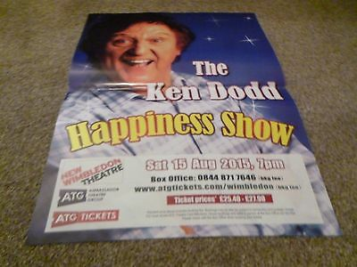 The Ken Dodd Happiness Show  Sat 15 Aug 2015 New Wimbledon Theatre A3Size Poster