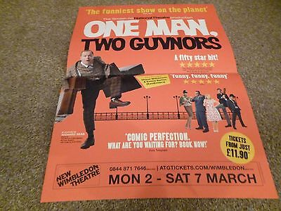 One Man Two Guvnors New Wimbledon Theatre A3Size Poster