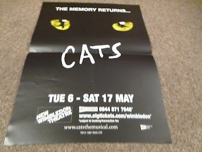 Cats The Memory Returns... New Wimbledon Theatre A3 Size Poster