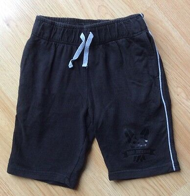 Boys Black Jersey Jogger Sweat Shorts - Age 8