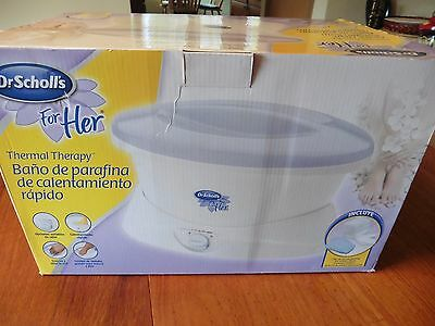 NIB Dr. Scholl's For Her Thermal Therapy Quick Heat Paraffin Bath Wax Spa Hand