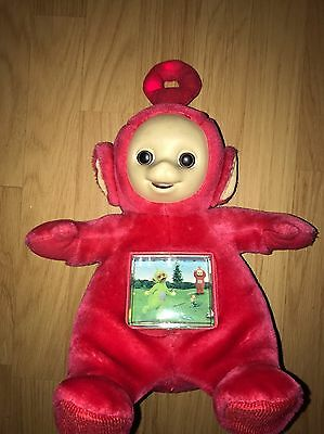 """Rare 1996 TOMY TELETUBBIES 13"""" SOUND & LIGHTS TALKING PO WITH MOVING TV SCREEN"""